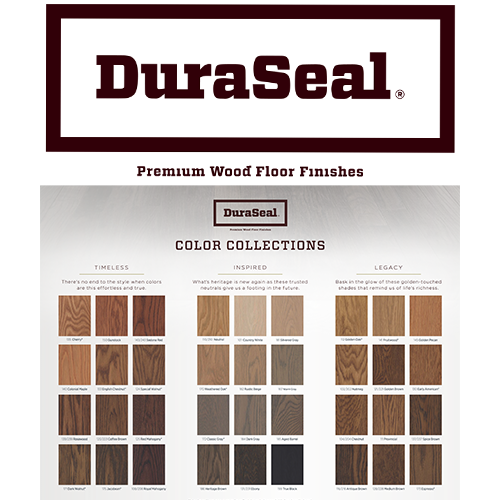 Duraseal Quick Coat Stain Chart