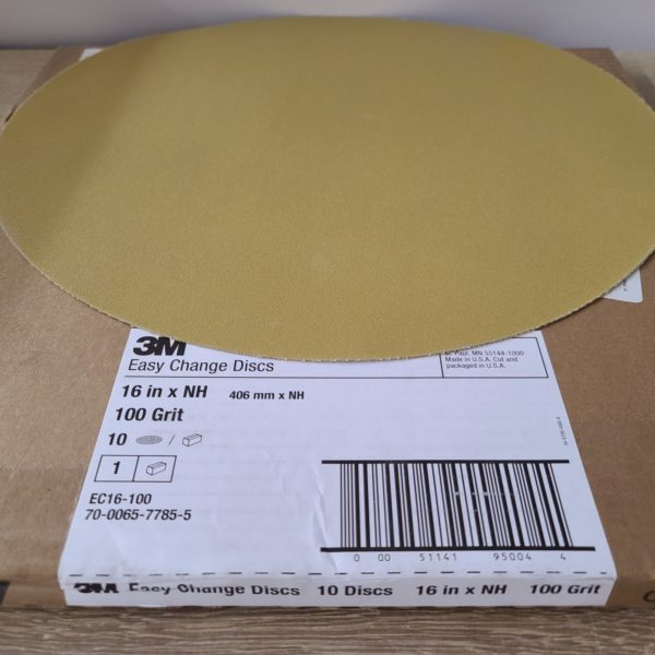 "3M 100 grit easy change disc for 16"" buffer"