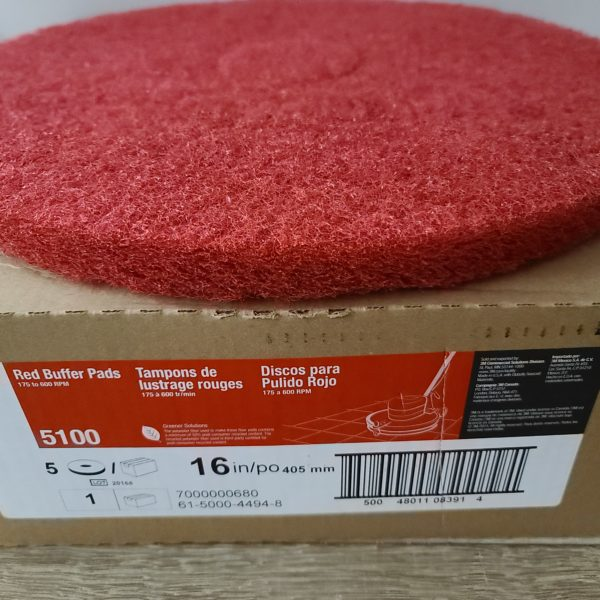 """3m thick red scrubbing pad for 16"""" buffer"""